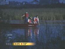 Charles Richardson drowned in this pond (WRAL-TV5 News)