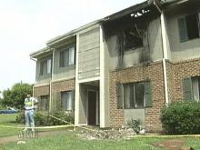 A fire in this Wendell apartment building caused one woman to be treated for smoke inhalation. (WRAL-TV5 News)