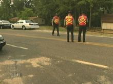 Troopers at this road-block on River Road made a drunk driving arrest within 20 minutes of setting up. (WRAL-TV5 News)