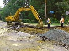 Water Main Breaks in Chapel Hill, Road Closed