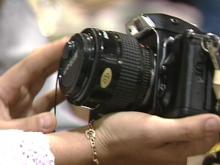 Items ranging from cameras to books to old typewriters were sold at RDU International's auction this weekend.(WRAL-TV5 News)