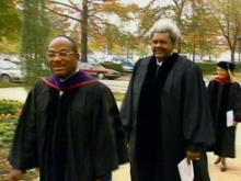 Shaw Bestows Honorary Degree on Boxing Promoter Don King