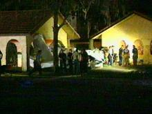 The plane carrying Ruth Hodson and her husband, Ronald, a zoology professor and head of the Sea Grant Program at NC State University, crashed into a house in Summerfield, Florida.(WRAL-TV5 News)