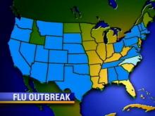 North Carolina is among the flu outbreak states listed by the Centers for Disease Control.