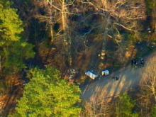 Once investigators arrived at the scene, they confirmed that a body was located in the woods.(WRAL-TV5 News)