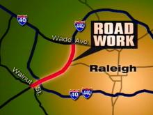 Lanes will be closed in both directions between 7 p.m. and 6 a.m.(WRAL-TV5 News)