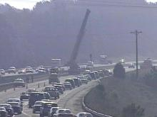 Concrete Slabs Spill Onto I-40 Slowing Traffic During Morning Commute