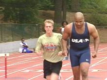 Blind Athlete Uses Sports to Cope with Anger