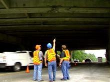 Truck Smashes Raleigh Beltline Bridge