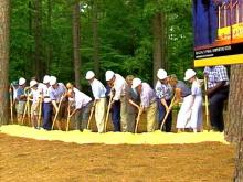 Shovels poised, everyone was ready to dig in at the groundbreaking.(WRAL-TV5 News)