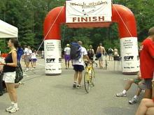 The triathlon was held to benefit the Jimmy V Foundation.(WRAL-TV5 News)