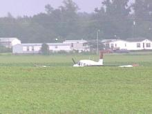A small plane made an emergency landing
