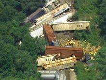 22 Cars Jump the Tracks South of Fayetteville