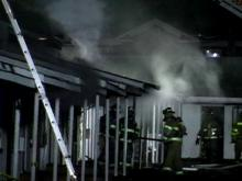 The fire started just after midnight at the Highland Apartments.(WRAL-TV5 News)