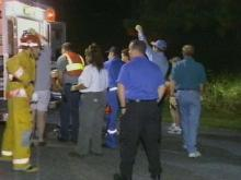 Emergency crews arrived at the scene quickly.(WRAL-TV5 News)