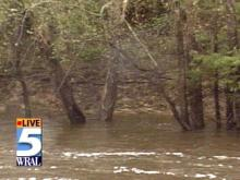 The big worry in eastern North Carolina is how high the rivers, like the Neuse, may go.(WRAL-TV5 News)