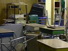 Vandals Damage 6 Trailers at Cary Middle School