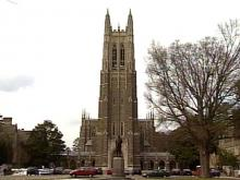 Duke has suspended the sorority's activities until the investigation is complete.(WRAL-TV5 News)
