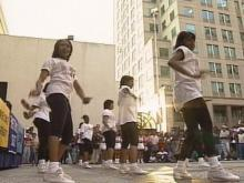The CIAA tournament will not start until Monday at the Entertainment and Sports Arena, but fans kicked off the festivities with a pep rally at Fayetteville Street Mall in Raleigh on Friday.(WRAL-TV5 News)