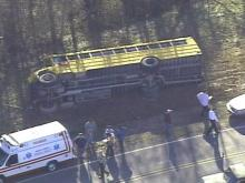 19 Children Transported to Hospital After Vance County School Bus Overturns