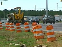 The northbound and southbound median lanes of Capital Boulevard at Old wake Forest Road will be closed through Monday morning.(WRAL-TV5 News)