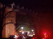 No one was injured in the blaze at Meredith College.(WRAL-TV5 News)