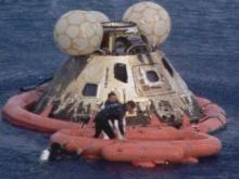 The Apollo 13 capsule landed April 17, 1970.(WRAL-TV5 News)