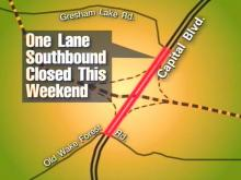 One lane of southbound Capital Boulevard from Gresham Lake Road to Old Wake Forest Road will be closed Saturday night through Monday morning.(WRAL-TV5 News)
