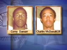 Corey Eugene Damarr, 18, and Charles E. McDonald III, 19, have each been charged with one count of first-degree murder and one count of discharging a firearm into an occupied dwelling.(WRAL-TV5 News)