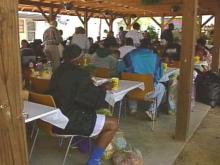 A Durham shelter opened its doors Saturday to people who cannot afford an elaborate Easter feast.(WRAL-TV5 News)