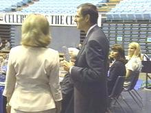 WRAL's Tom Suiter was among those honored by the N.C. High School Athletic Association.(WRAL-TV5 News)