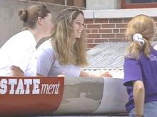 N.C. State Students Hit The Water With Concrete Canoe