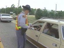 Several law enforcement agencies joined forces Tuesday afternoon at a seat belt checkpoint on Legion Road in Fayetteville.(WRAL-TV5 News)