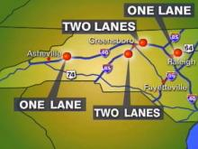 Major Part of Interstates 40, 85 To Be Closed Saturday Morning