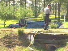 A single car crash has left two people dead in Robeson County.(WRAL-TV5 News)