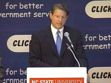 Gore Promotes 'E-Government' During N.C. Visit