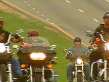 Bikers Rally in Memory of Fallen Motorcyclist
