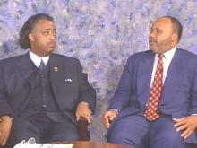 The Reverend Al Sharpton and Martin Luther King III visited the WRAL studios Thursday. They are asking people to commemorate the 37th anniversary of the March on Washington.(WRAL-TV5 News)