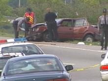 A single car accident has left two teens dead, a woman hospitalized and the driver in jail.(WRAL-TV5 News)