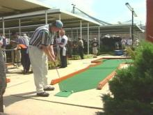 The Professional Putters Association is holding its national championship in Fayetteville this week. Golfers will hit the greens for $100,000 in prize money.(WRAL-TV5 News)
