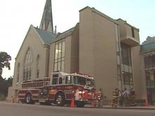 A homeless man is suspected of starting a fire at the First Baptist Church in downtown Raleigh. Damage was estimated at $150,000.(WRAL-TV5 News)