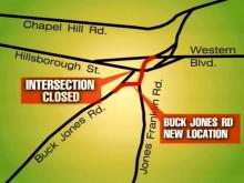 Buck Jones Detour(WRAL-TV5 News)