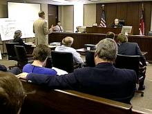 Retirees and attorneys gathered at the Wake County Courthouse Friday to learn the latest about the battle to collect their illegally taxed pensions.(WRAL-TV5 News)