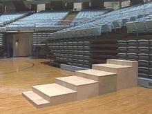 This season, UNC students will get a chance to be closer to the action at basketball games. The university has placed a standing room only section behind the Tar Heels bench.(WRAL-TV5 News)
