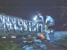 Fayetteville firefighters were called Monday evening to rescue a man who had been shot on a roof.(WRAL-TV5 News)