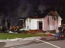 Fire badly damaged the Clifton Chapel church in Spring Hope.(WRAL-TV5 News)