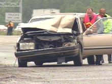 Motorists Tackle Tough Task Of Swerving Through Roadway Debris