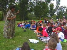 Donna Washington tells stories for a living. She says it is the best job she could have.(WRAL-TV5 News)