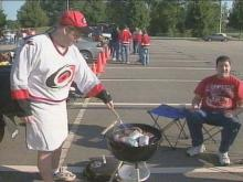 Hockey Fans Gear Up For Carolina Hurricanes' Opener With Tailgate Party
