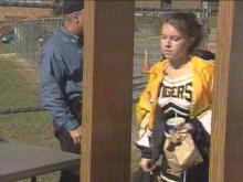 Students who attended Tuesday's game had to pass through a metal detector and show their school ID.(WRAL-TV5 News)